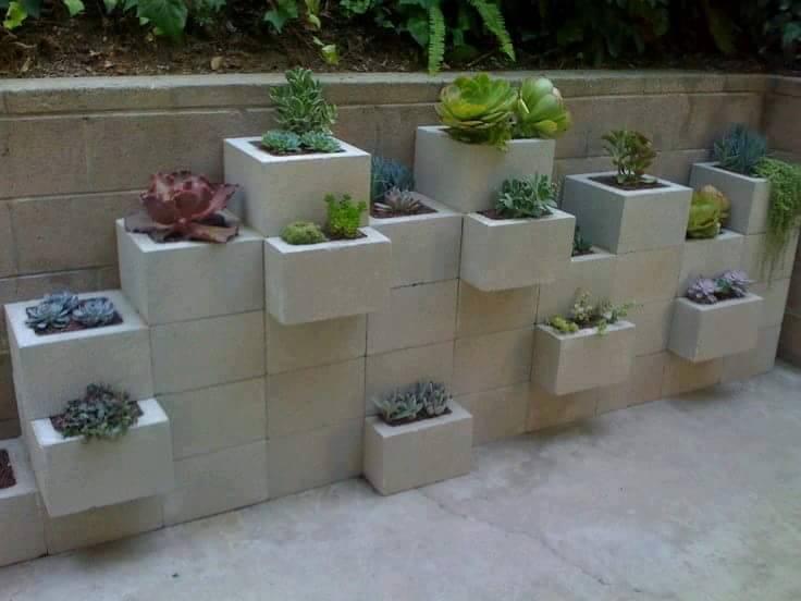 Decoración con bloques de hormigón 4