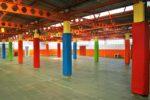 Proteccion columnas gimnasio colegio público